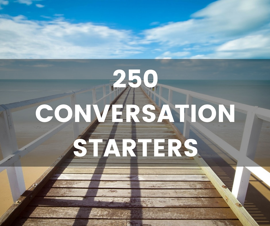 Different conversation starters