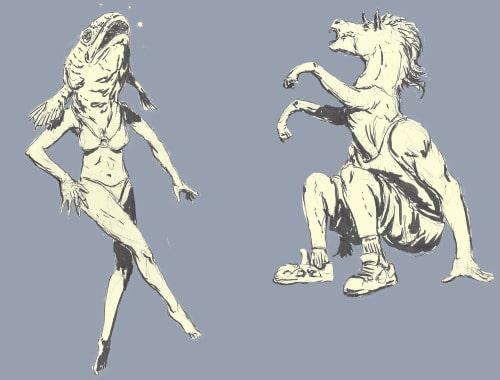 reverse mermaid reverse centaur