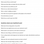 20 questions to ask your girlfriend