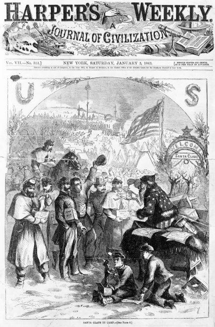 1863 Thomas Nast Santa Claus - Christmas Trivia