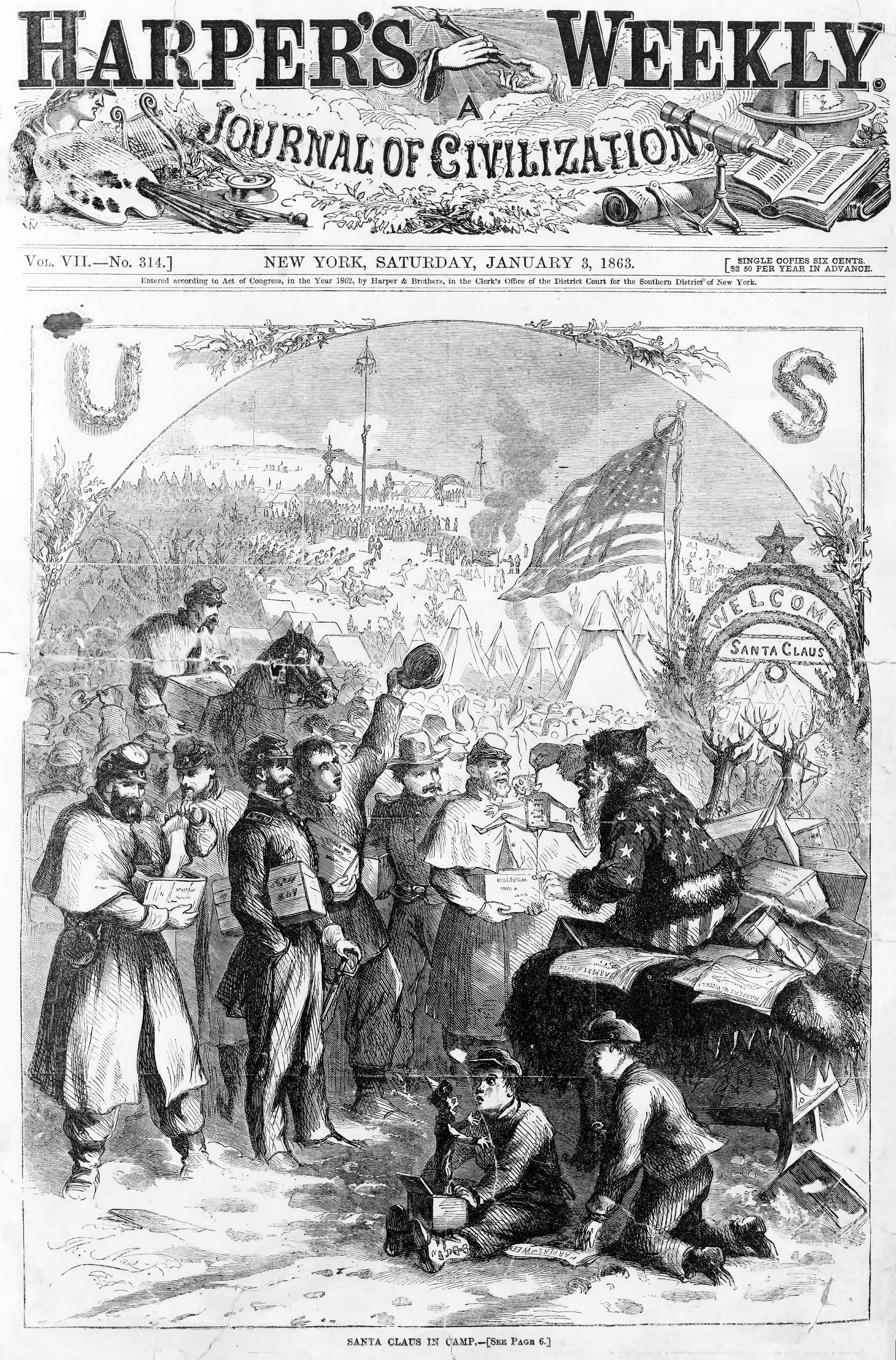 1863 thomas nast santa claus christmas trivia