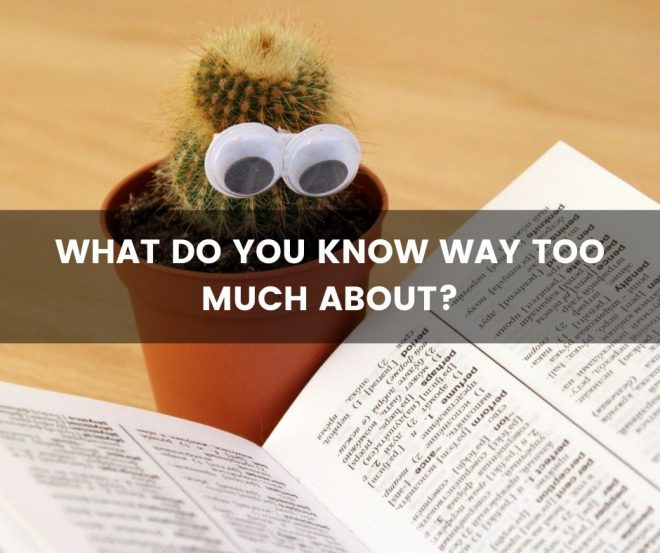 What do you know way too much about?